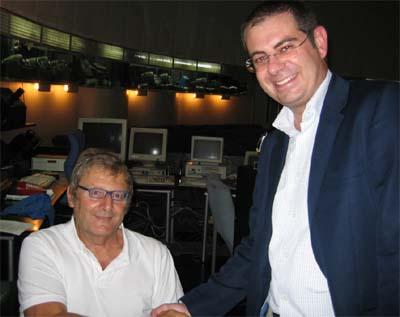 Con el autor del libro: Alberto Martos