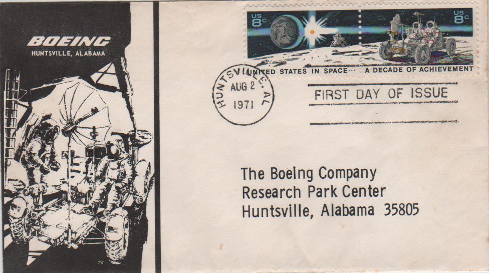 RIGO - 02.08.71 Huntsville, AL - FDC - Boeing cover