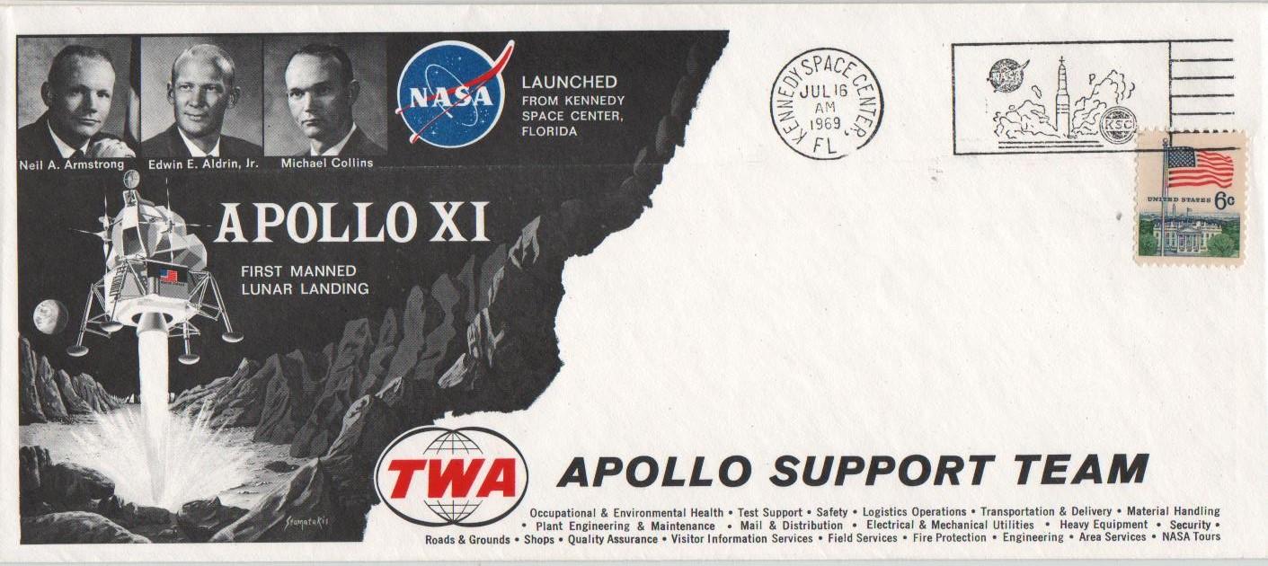 RIGO - 16.07.69 KSC - Apollo 11 launch - TWA cover