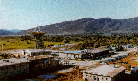 Antena de Robledo de Chavela durante los años sesenta. En uno de esos edificios se encontraba el Ala Apolo (Apollo Wing - MADX).