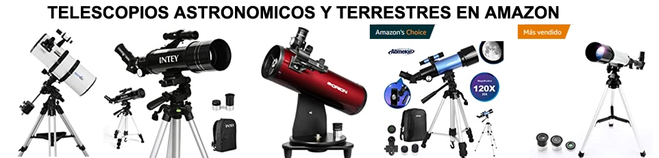 Telescopios astronómicos en Amazon.