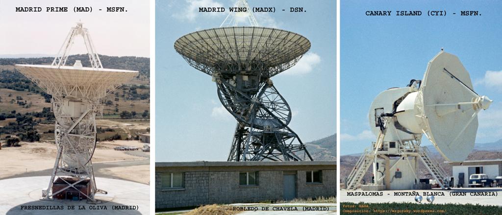 Antenas españolas de NASA de la red MSFN.