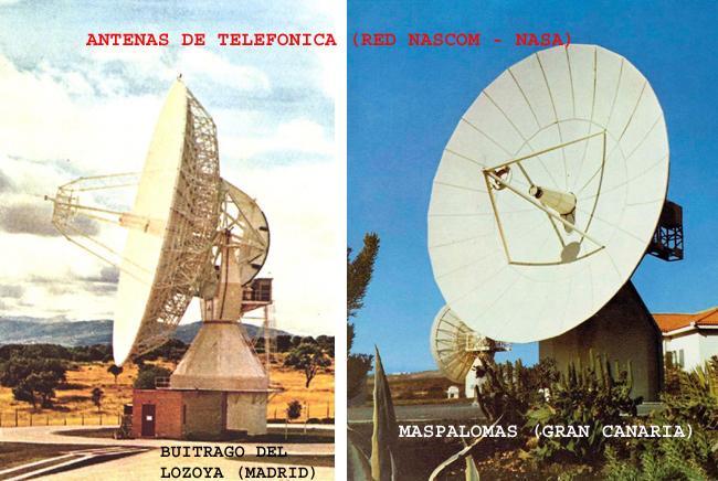 Antenas Intelsat de Telefónica de la red NASCOM.
