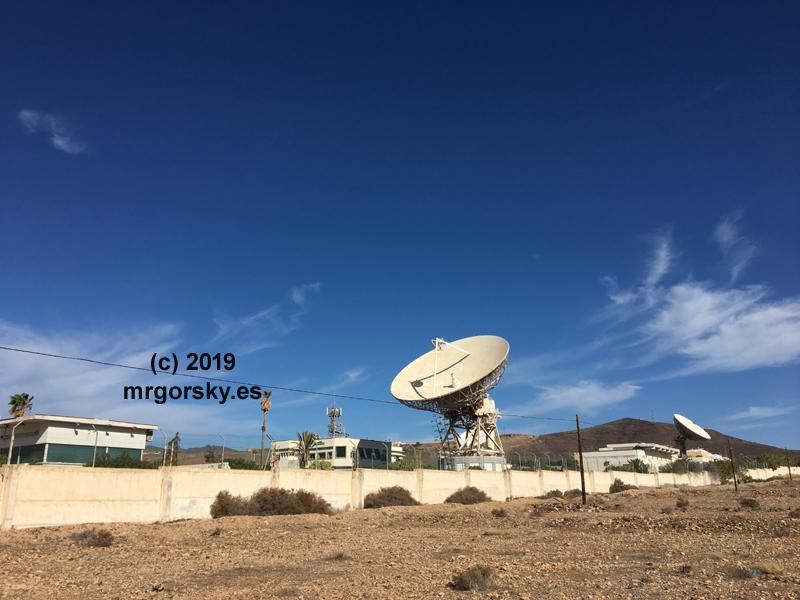 Estación de Telefónica en Agüimes (Gran Canaria) para operar satelites INTELSAT dentro de la red NASCOM. Actualmente en desuso. Foto: MrGorsky, año 2019.