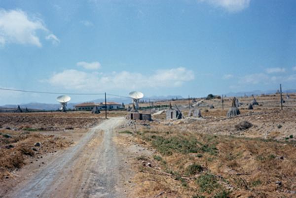 Primera estación de Telefónica (1967) cerca de Maspalomas, ya desmantelada. Foto: NASA.