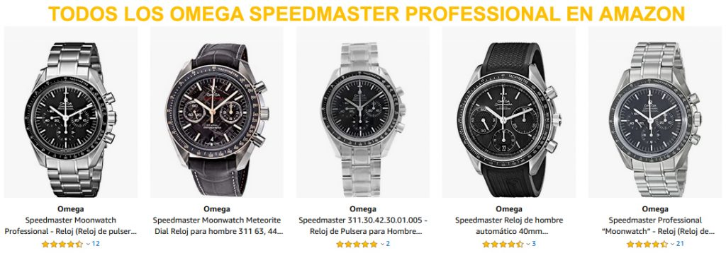 Todos los Omega Speedmaster Professional disponibles en Amazon