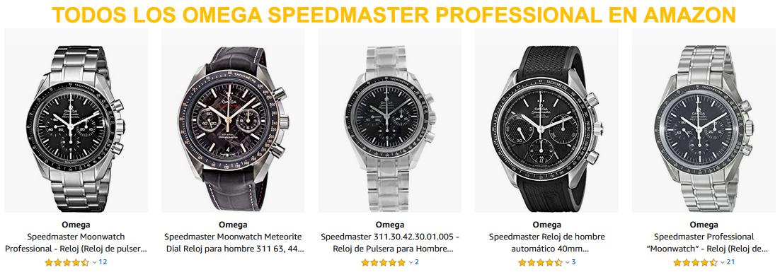 Todos los Omega Speedmaster Professional en Amazon
