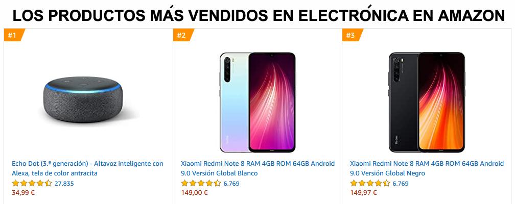 Los más vendidos en Electrónica en Amazon