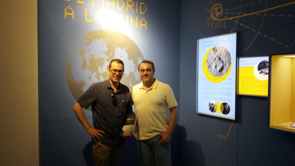 "Visita de Eduardo a la expo ""De Madrid a la Luna"" 24 julio de 2019."
