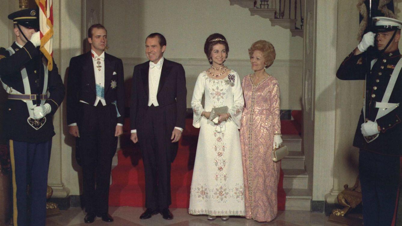 Los príncipes de España durante su visita al matrimonio Nixon en Estados Unidos (Cordon Press)