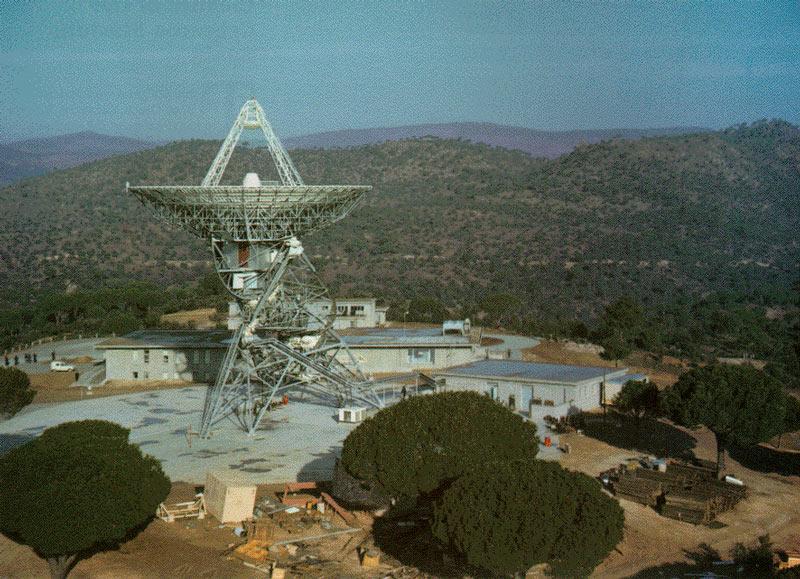 Estación de Cebreros (Ávila) de la red DSN de NASA.