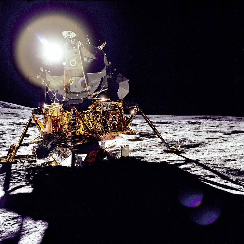 El módulo lunar Antares en Fra Mauro (Apolo 14).