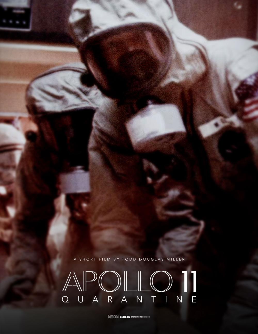 Póster de Apollo 11 Quarantine, corto de Todd Douglas Miller (2021).