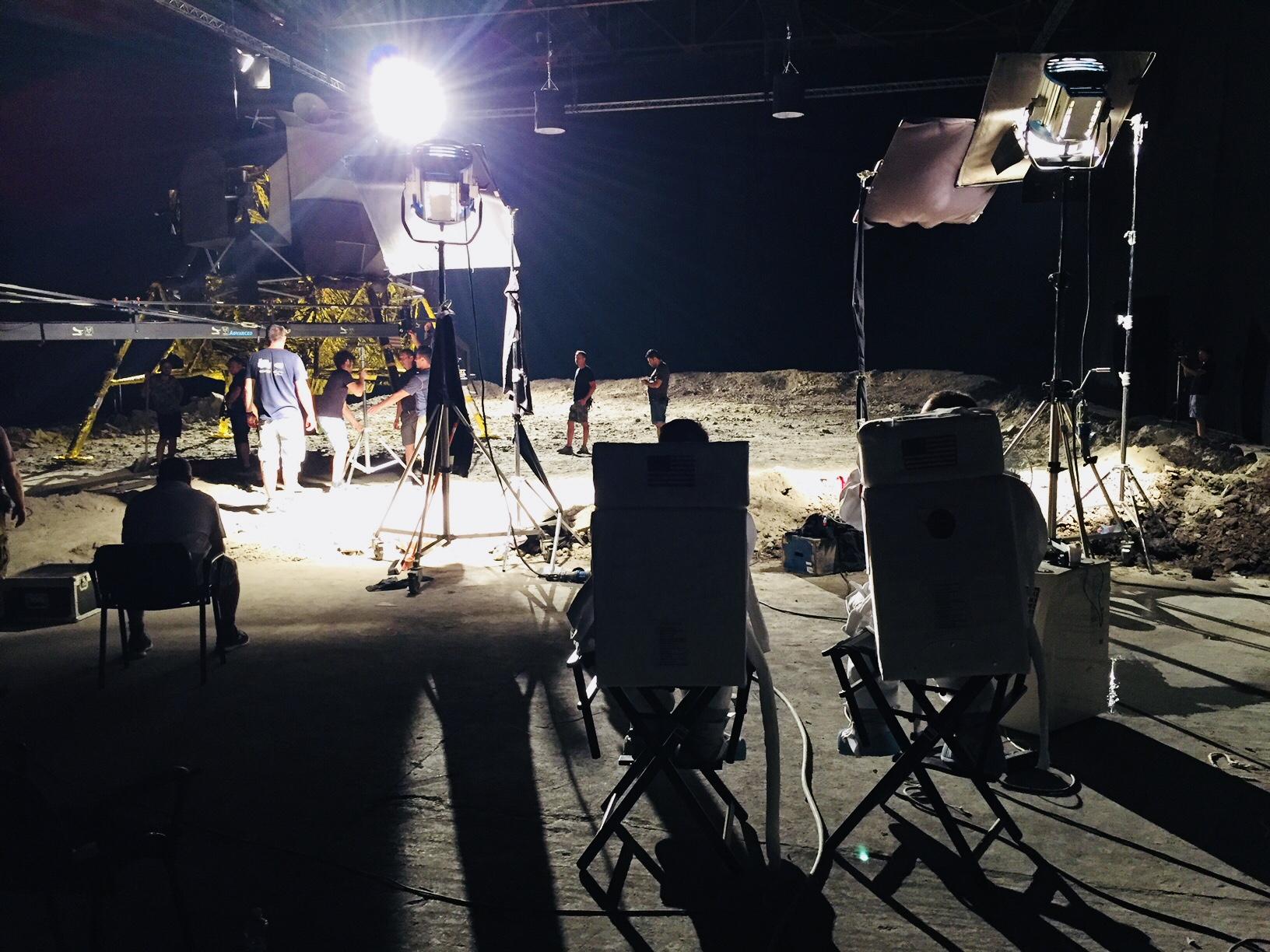 Recreación de la Luna para el documental