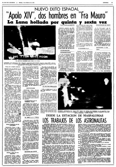 El Eco de Canarias, edición del 6 de febrero de 1971.