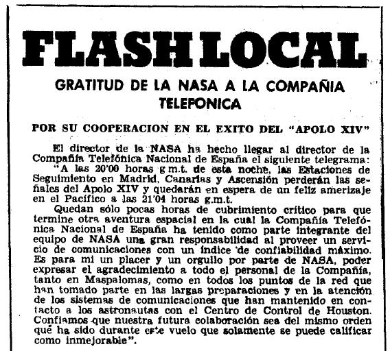 El Eco de Canarias (14 febrero de 1971).