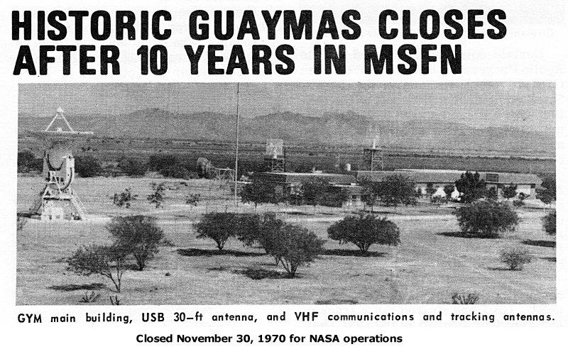Anuncio del cierre de la estación de Guaymas (Nov. 1970).
