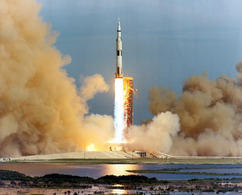 Lanzamiento del Apolo 15, el 26 de julio de 1971 (NASA)